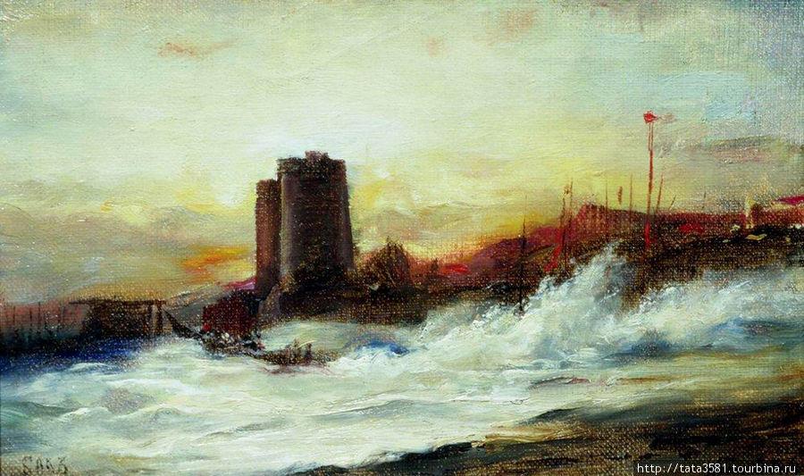Картина Боголюбова А. П. Девичья Башня Баку, Азербайджан