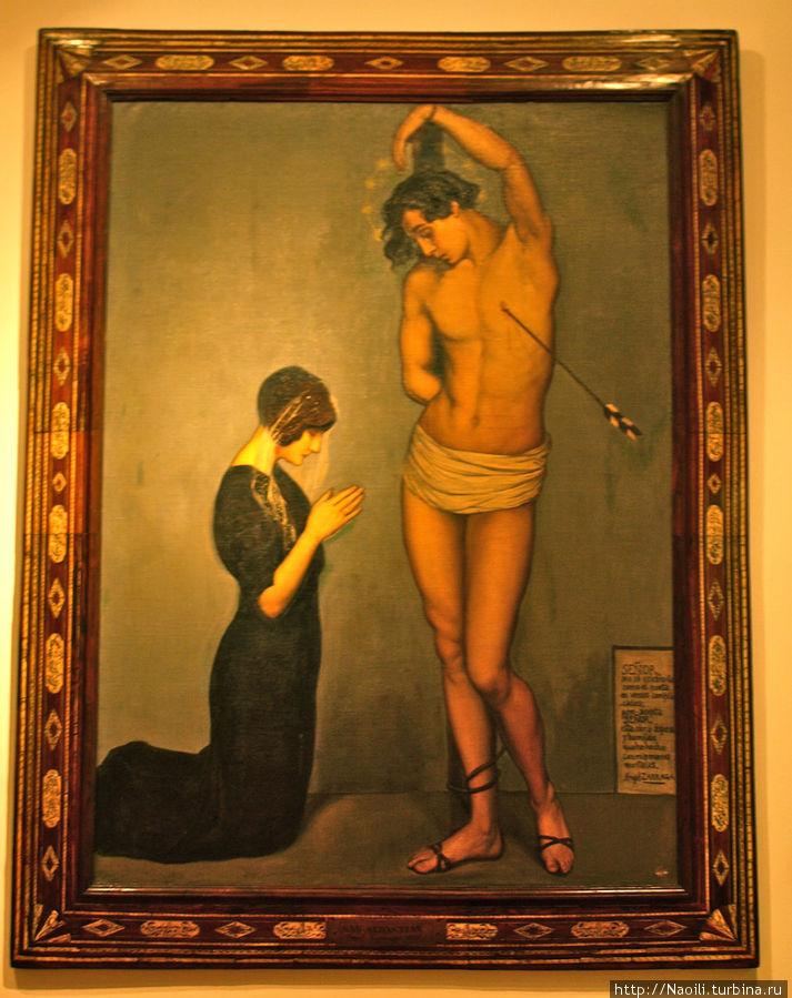 Эта картина иллюстрирует змансипацию начала прошлого века, присмотритесь чего больше в фигуре Христа: мужского или женского?