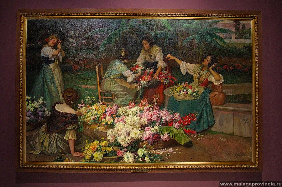 Валенсийские цветочницы,  Хосе Ногалес, Малага, 1908 г.