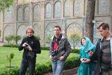 в Golestan Palace.