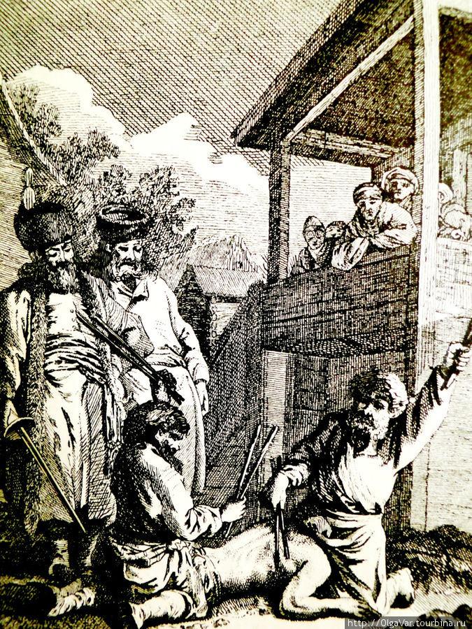 А так награждали особо отличившихся  крестьян в 18 веке. То, что произошло в Лудорвае в 1928 году, мало чем, по-видимому, отличалось от этого. Со старинной гравюры 18 века