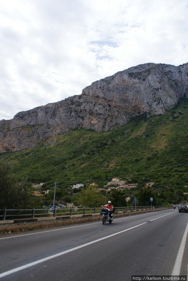 по дороге в Палермо