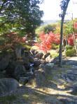 Рядом со святилищем разбит сад, через который можно спустится вниз. Дальше следуют фото сделанные во вермя спуска через него.