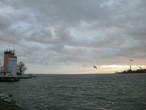 Калининградский морской судоходный канал, вид в сторону Калининграда