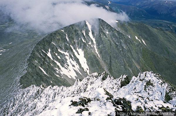 Предвершинный гребень гор
