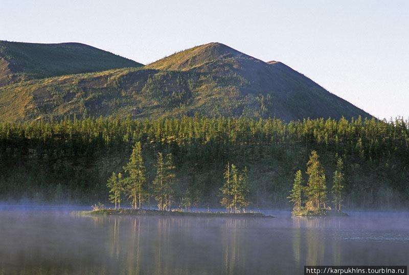 Утро на четвёртом озере.