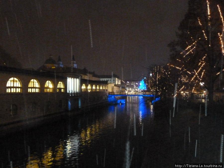 Любляна.Рынок со стороны реки.