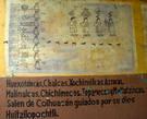 Индейцы различных племен выезжают из Колуакан ведомые богом Уитсилопóчтли.