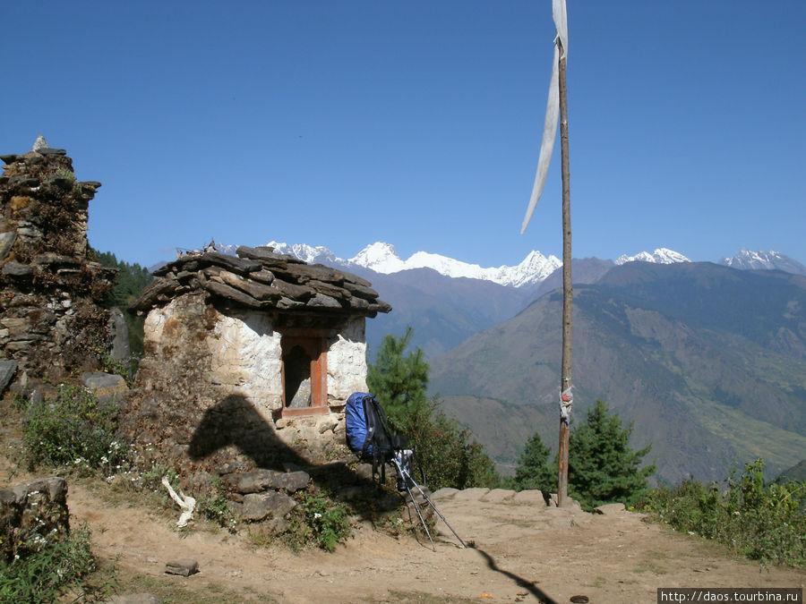 Стоянка у молитвенной мельницы