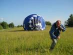 Работа наземной команды сопровождения — обеспечение посадки шара