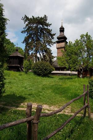 Лемковская деревянная церковь. Построена без единого гвоздя.
