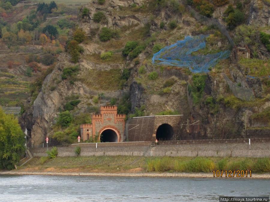 Туннели: автомобильный и железнодорожный