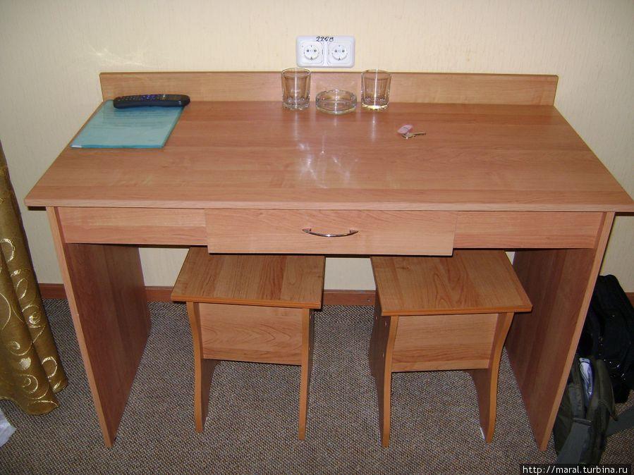 За этим столом я написал свои отзывы о мотеле