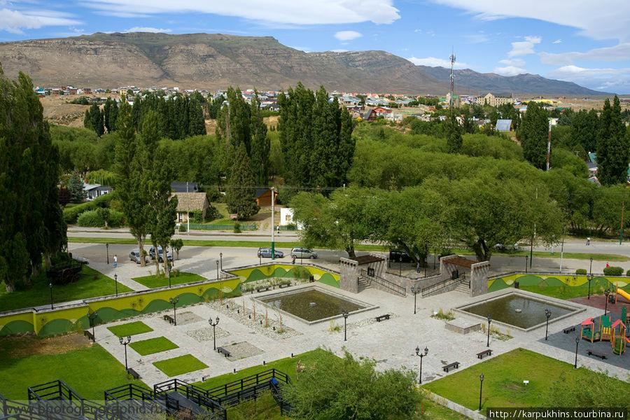 Эль Калафатэ. Вид сверху, со смотровой площадки.