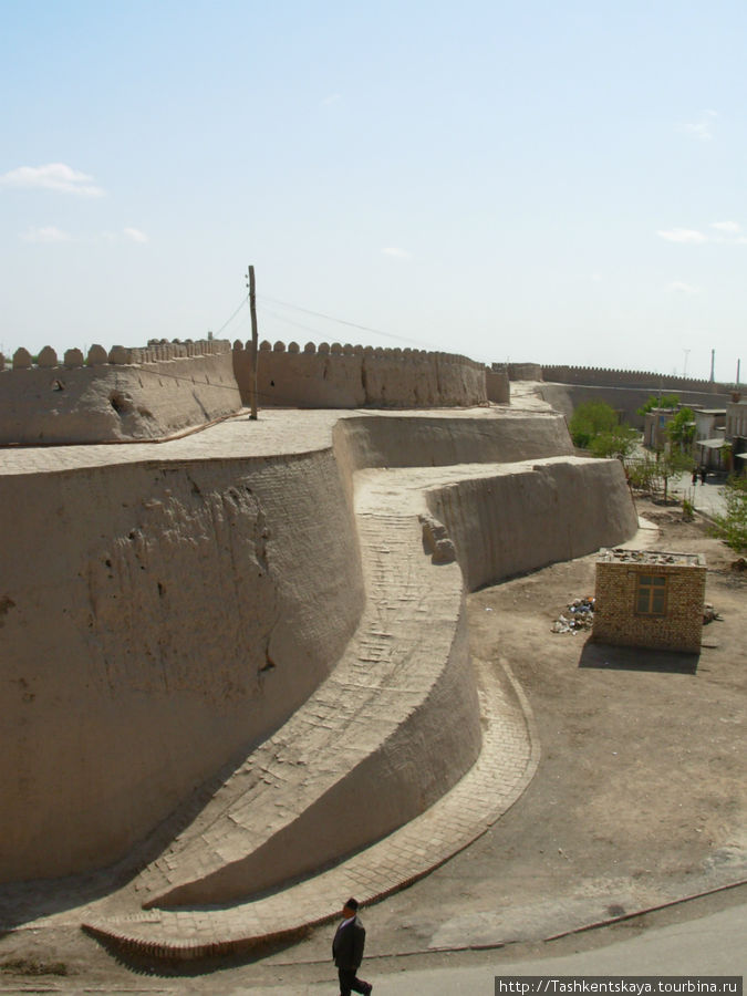 Хива. Стена старого города. Вид изнутри.