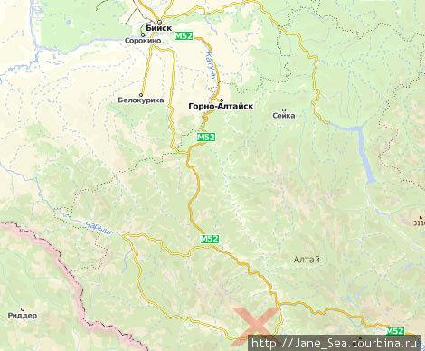 На карте отмечен участок