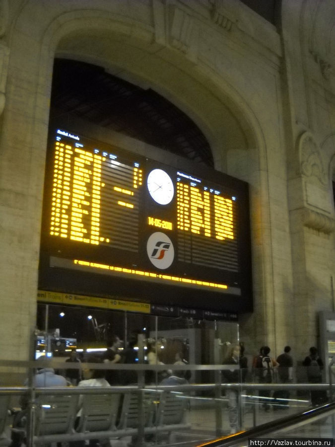 Выход к платформам и расписание поездок