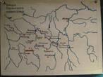 Карта расположения славянских городов. В те времена люди жили без Google Maps.