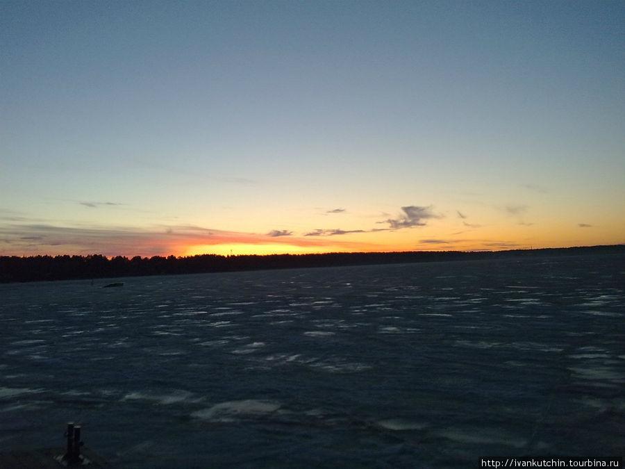 Закат на Онеге