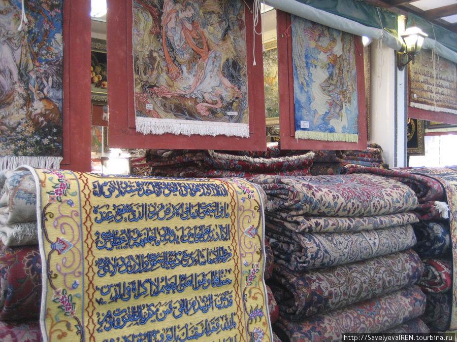 Иранские шелковые ковры.