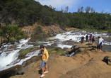 На каскадном водопаде Пикара