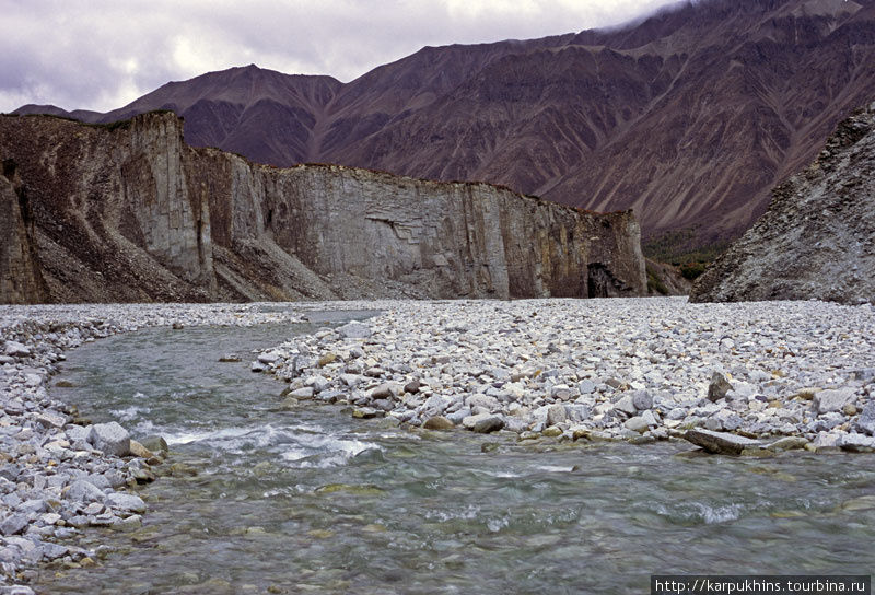 Каньон Снежника, левого притока Ниткана.