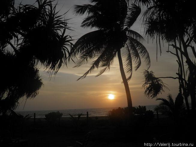 Последний наш закат на Шри Ланке