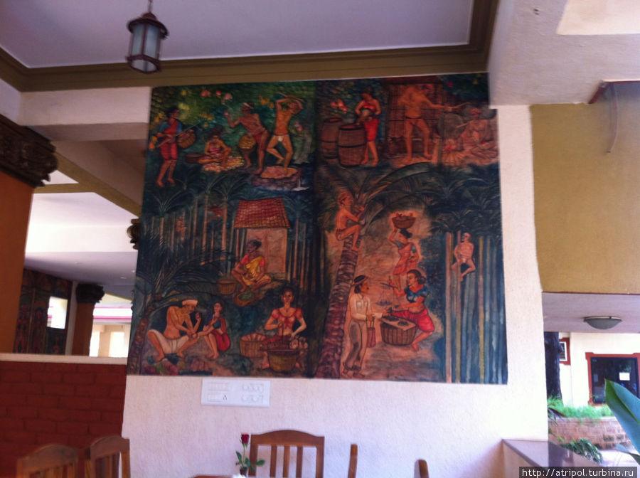 Наскальная живопись в некоем отеле Калангута