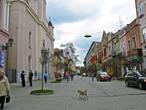 Улица Корзо — центральная улица Ужгорода. Здесь лучше всего сохранилась старинная застройка.