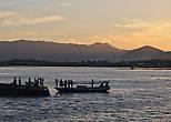 Закат в порту Сапе.