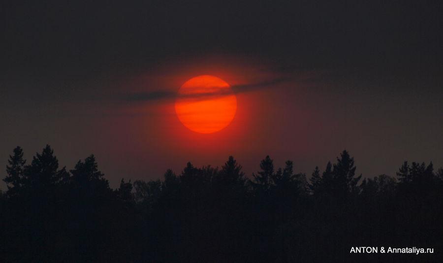 Закат где-то над Аландскими островами.