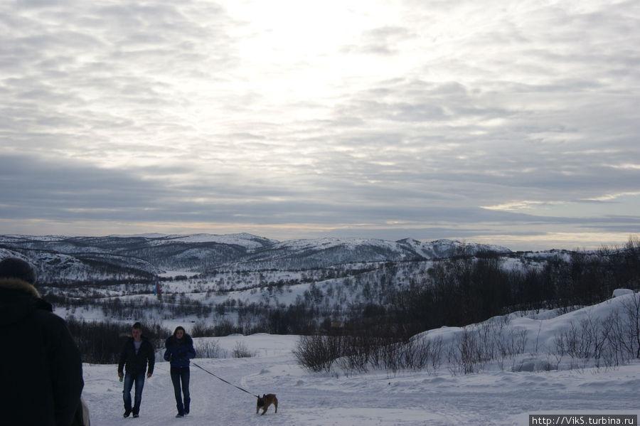 Отсюда начинается тропа здоровья. Многие занимаются пешими прогулками. Снежногорск, Россия