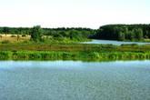 Река Черная в селе Черная Заводь (левый берег)