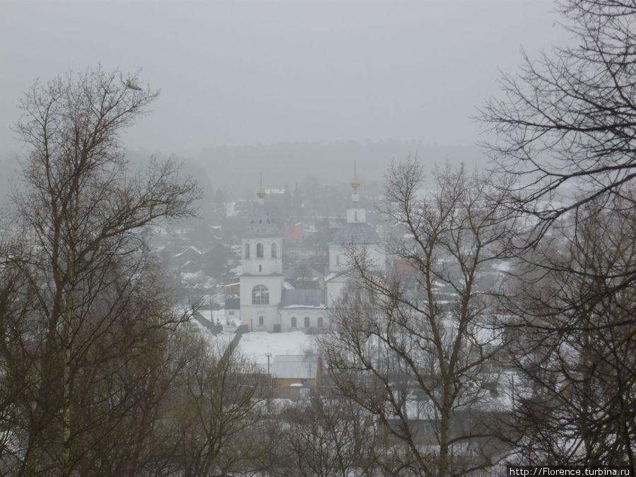 Вид с городских валов на Заречье