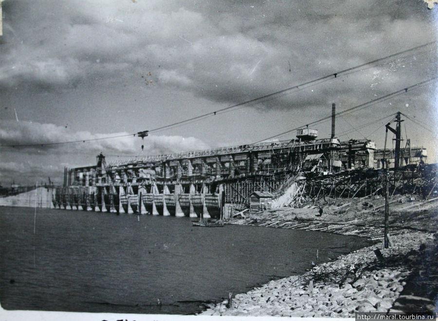 Строительство Рыбинской ГЭС. 1940 год
