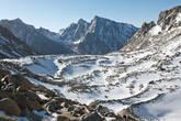 Вид на восток с перевала Дролма Ла