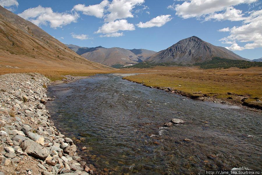 Снова река Тара. Водичка бодрящая, ледяная.