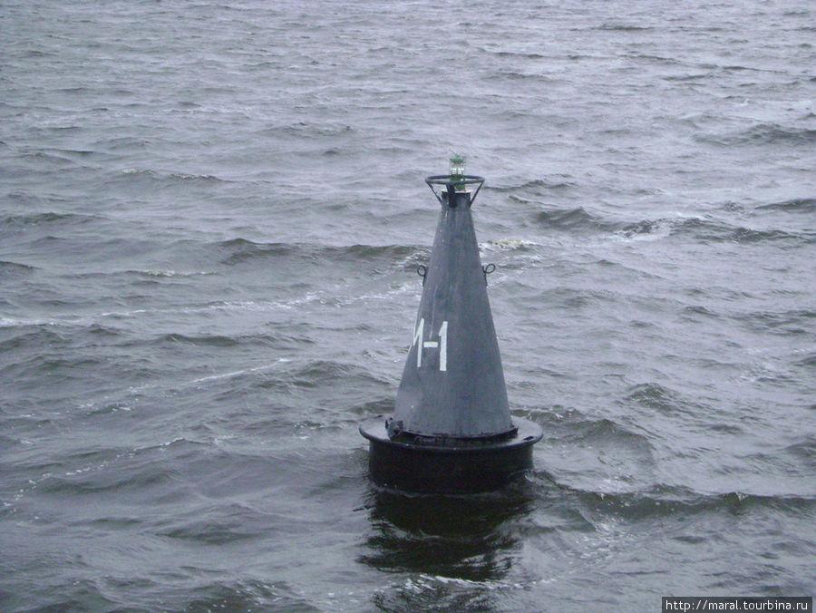 Этот бакен установлен над Мологой, ставшей Русской Атлантидой