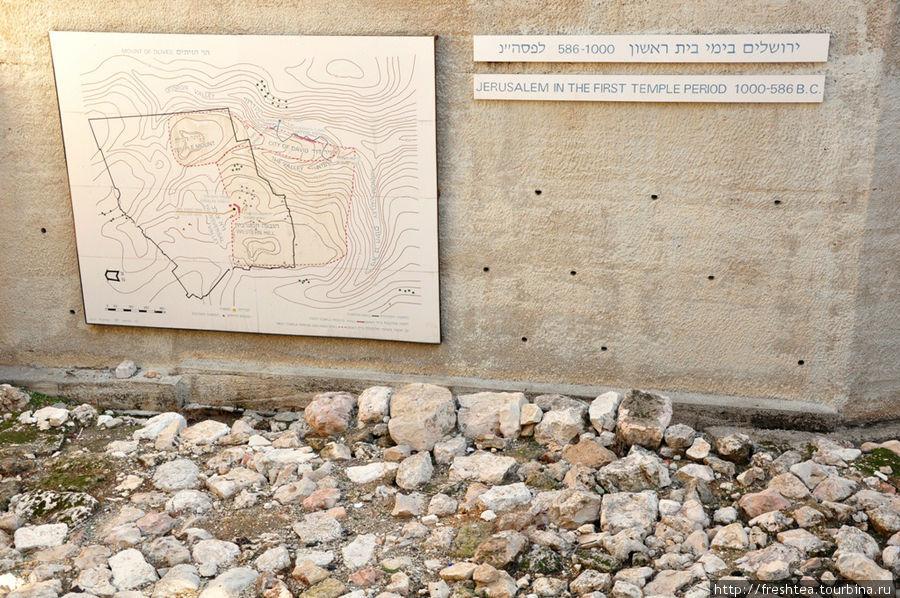 Отметки по итогам раскопок в Старом городе: план Иерусалима эпохи 1-го Храма (1000-586 гг. до н.э.)
