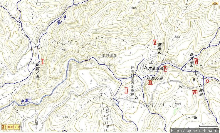Топографическая карта Нют