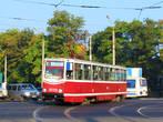 Краматорск.Трамвай КТМ-5 на улице Орджоникидзе.