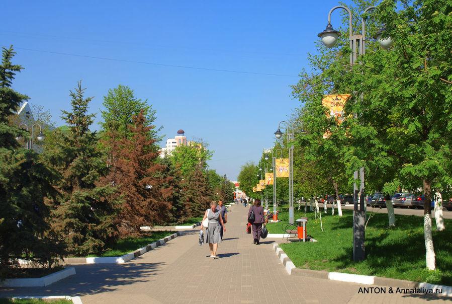 Зеленая часть бульвара.