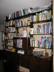 Книжная полка с книгами по-русски и по-итальянски