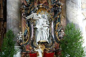 Ангел-хранитель. Скульптура Й. Й. Кристиана.