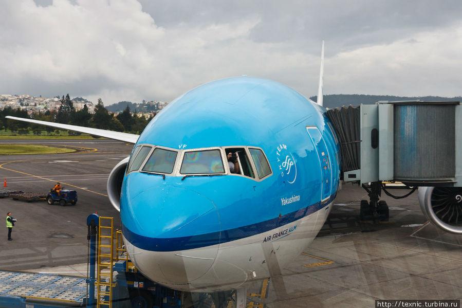 The Flying Dutchman; что любопытно, на спутниковом снимке от Google, в аэропорту виден борт именно KLM.