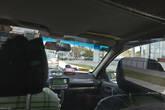 Обычное такси. Уже не Mercedes. Ездят по таксометру, который отсчитывает какие-то интервалы, соответствующие той или иной цене в спецтаблице. В такси обычно чисто, но развалюхи, конечно, ужасные. К тому же, между водителем и пассажирами стоит идиотская перегородка с выдвижным ящиком для денег.