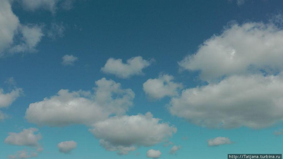 кажется...  плывут   облака