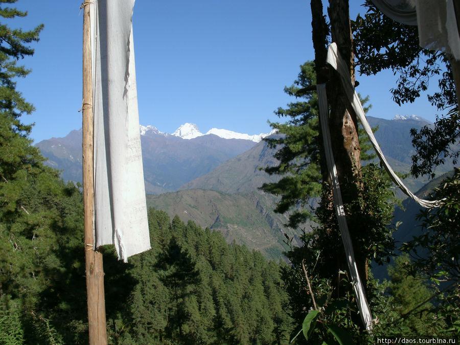 Вид на Тибетские горы