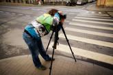 Турист (Рома) фотографирует на Гороховой улице