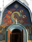 Фреска над входом в собор